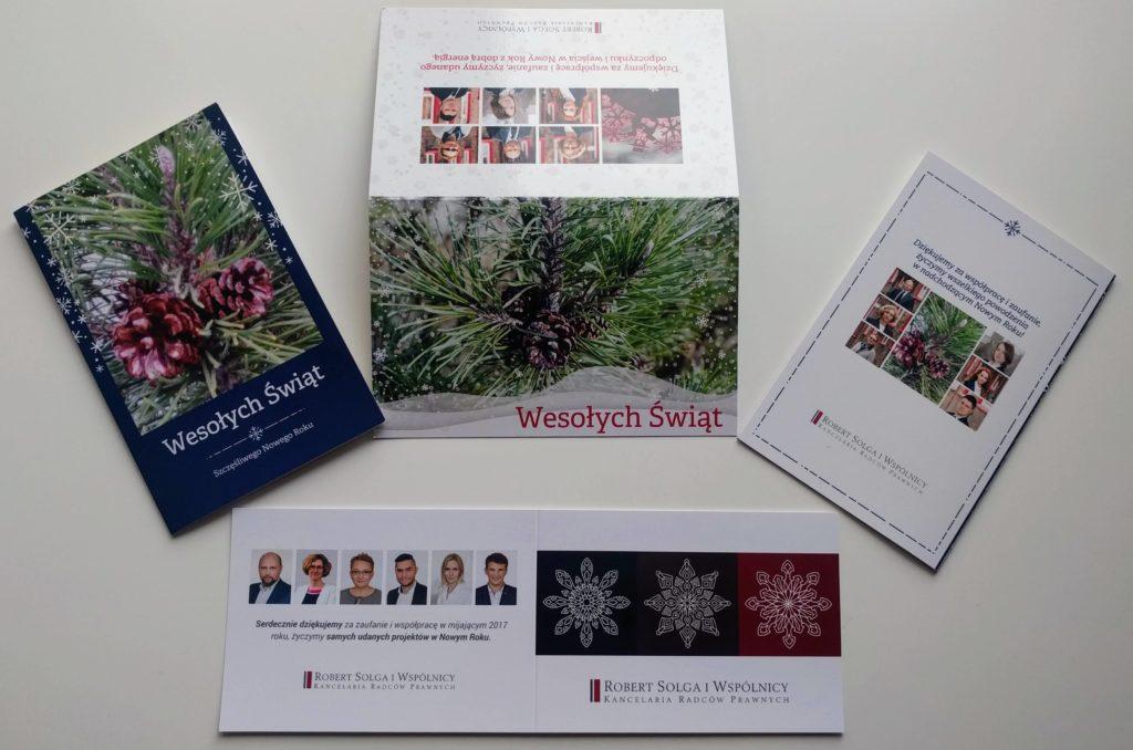 Kartka świąteczna dla kancelarii prawnej
